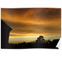 Stormy Sky at Sunset Poster
