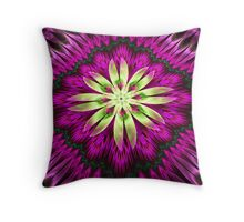 Flower Ribbon Throw Pillow