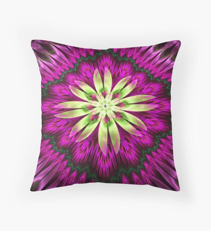 Flower Ribbon Throw Pillow