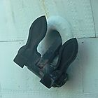 Anchor on HMAS Castlemaine now permanently docked at Williamstown, Vic. Aust* by EdsMum