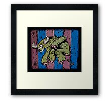 Pooping Bull Sloth with Pink Digits Framed Print