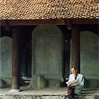 Scholarly Man, Temple of Literature, Hanoi, Vietnam by Jane McDougall