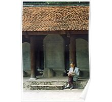 Scholarly Man, Temple of Literature, Hanoi, Vietnam Poster