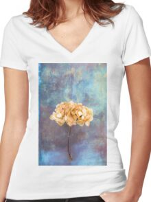 Faded Women's Fitted V-Neck T-Shirt