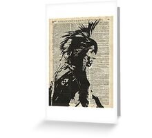 Indian,Native American,Aborigine Greeting Card