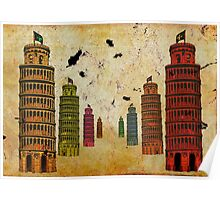 Twin Rainbow Towers Poster