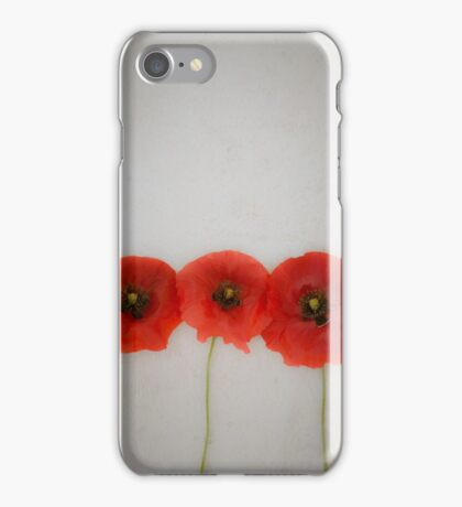 Three red poppies iPhone Case/Skin