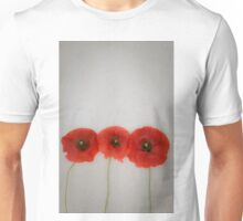 Three red poppies Unisex T-Shirt