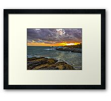 Fishing Piers Framed Print
