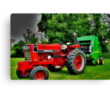 Time to Bale the Hay Canvas Print