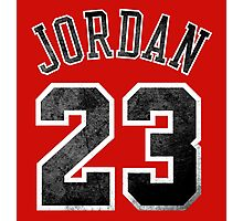 Jordan 23 Jersey Worn Photographic Print