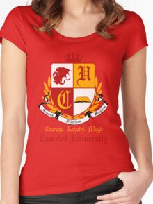 Camelot University (Big, Colour) Women's Fitted Scoop T-Shirt
