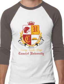 Camelot University (Big, Colour) Men's Baseball ¾ T-Shirt