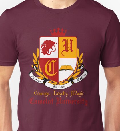 Camelot University (Big, Colour) Unisex T-Shirt