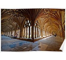The Cloisters - Canterbury Cathedral. Poster