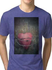 Trapped heart Tri-blend T-Shirt