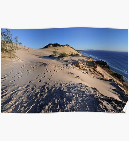 Carlo Sandblow at sunrise. Rainbow Beach, Queensland, Australia. (2) Poster