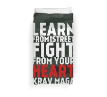 Learn From The Street Krav Maga - Camouflage Duvet Cover