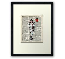 Joker from Playing Cards,Clown,Circus Actor Framed Print