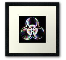 Biohazard - Holographic Framed Print