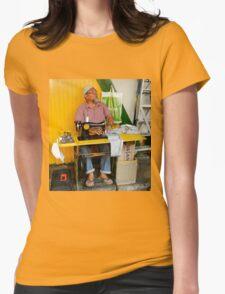 Street Sewer Koto Kinabalu, East Malaysia Womens Fitted T-Shirt
