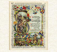 Dictionary Art - King Artur Story book,Decorative Manuscript Zipped Hoodie