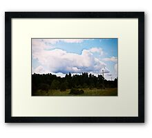 The Sky. Framed Print