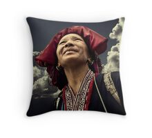 Red Dao Lady #0202 Throw Pillow