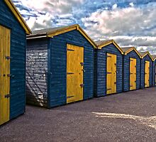 Beach huts at Minnis by Geoff Carpenter