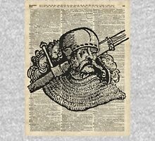 Medieval Knight illustration Over Old Encyclopedia Page T-Shirt
