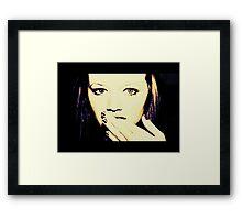 She Looks..... Framed Print