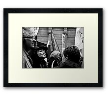 Anonymous goes to London Framed Print