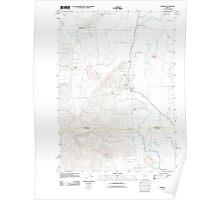 USGS Topo Map Oregon Monroe 20110831 TM Poster