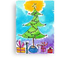 Dancy Christmas Tree  Canvas Print