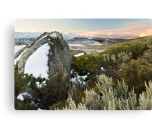 A Charlottes Pass walking trail, Australia Canvas Print