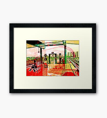 Singapore Red Beat Framed Print