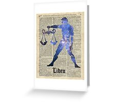 Libra Scales Zodiac Sign,Horoscope,Astrology,Astronomy Greeting Card