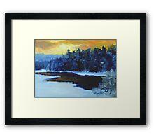 Sunset Blush Framed Print