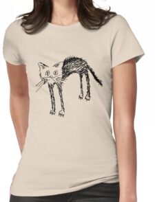 Come Here Kitty Womens Fitted T-Shirt