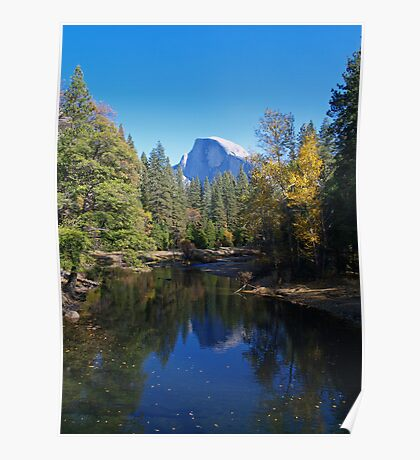 Half Dome and the Merced River Poster