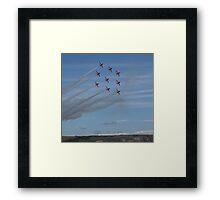 Red Arrows Diamond 9 Framed Print
