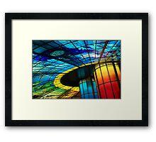 Subway Colors Framed Print