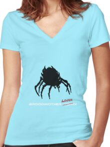 Broodmother Loserix Women's Fitted V-Neck T-Shirt