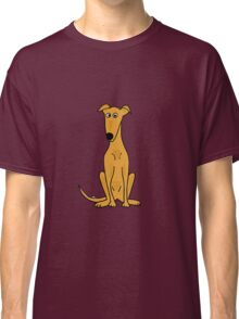 Cute Sitting Fawn Greyhound Racing Dog Classic T-Shirt