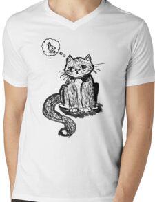 Ink Cat Mens V-Neck T-Shirt