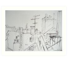 View from balcony, Paris Art Print
