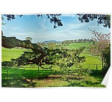 A Peek Through The Trees ~ Escot, Devon Poster
