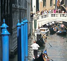 Busy Venice Canal by phil decocco