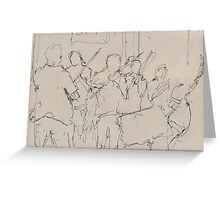 Violinists, Paris Greeting Card