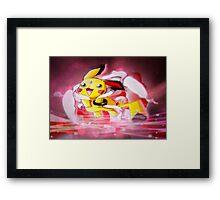Pokemon Angel Pikachu  Framed Print